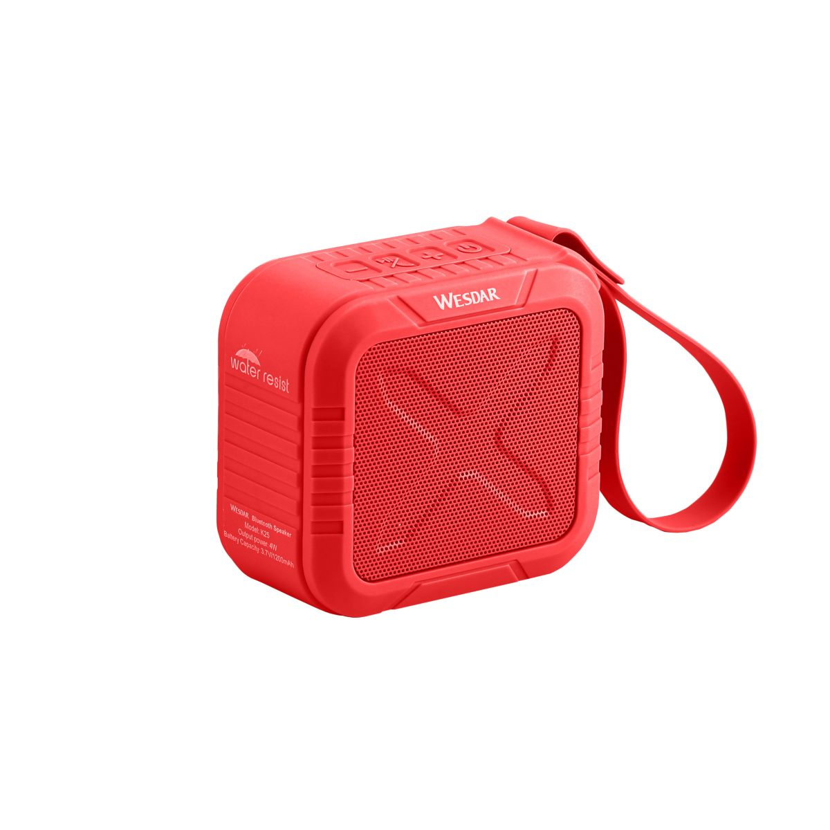 Parlante Portable Wesdar K25 Red